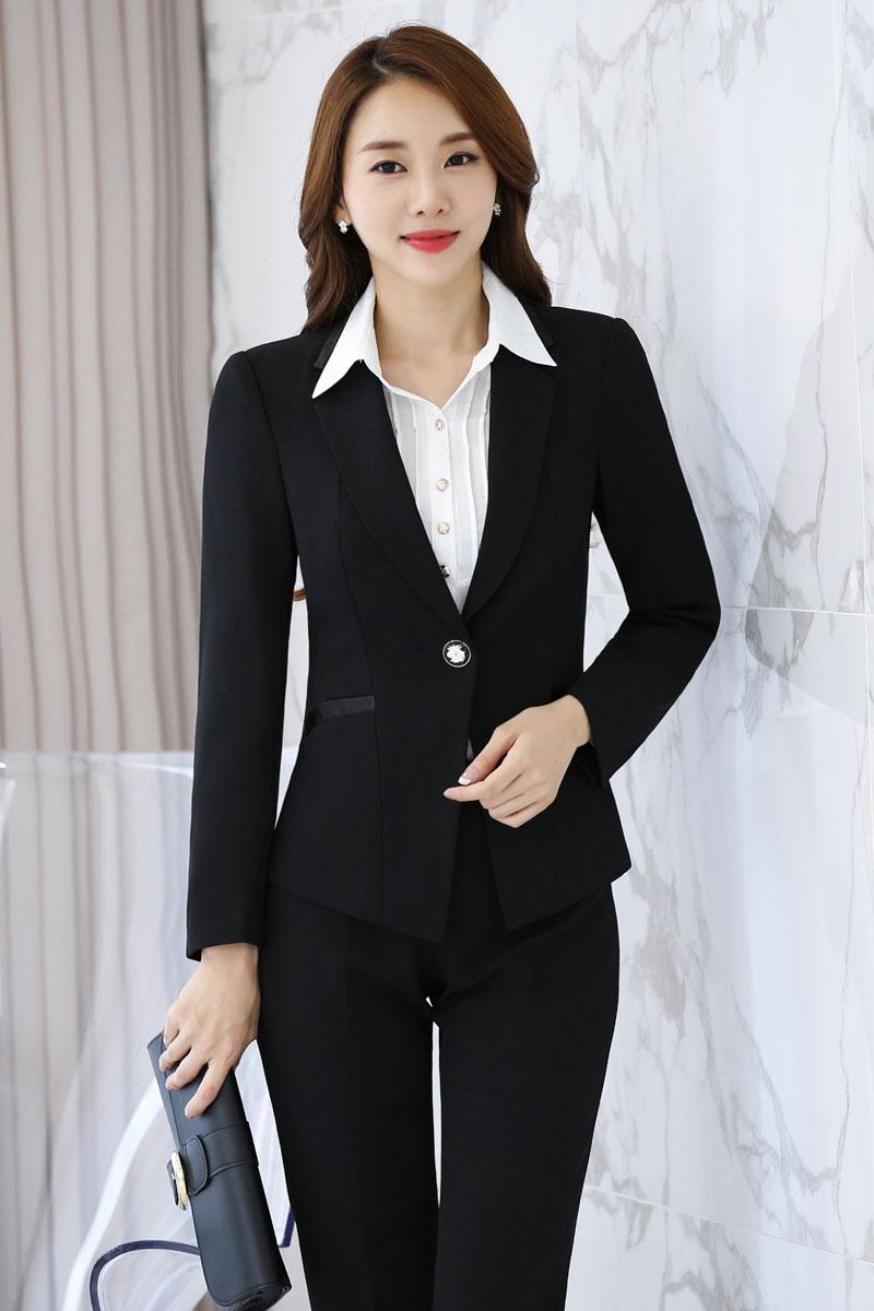 Bureau Uniformes Pour Pantsuits Blazers Professionnel Formelle Dames Pantalons Blazer D'affaires Femmes Et Tenues Costumes Avec Black Vestes xqAZSw6fq0
