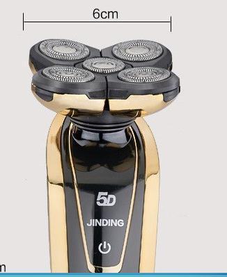 2016 novos homens originais de barbear máquina 5d recarregável à prova d' água mens barbeador elétrico três cabeças para philips shaver navalha
