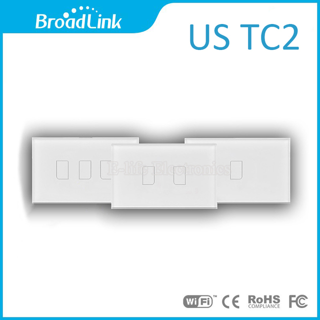 Broadlink US TC2 Touching 1/2/3 gang Panel WiFi Switch IOS Android Wireless Remote Light Controller 110V-240V  Home Automation