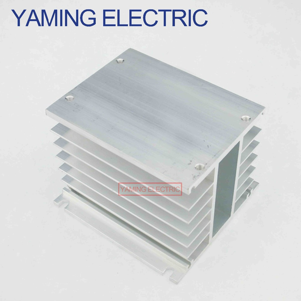 цена на 1PC SSR Solid State Relay Radiator fin other spare parts mini Heat Sink Dissipation Three phase Aluminum for SSR 10-100A