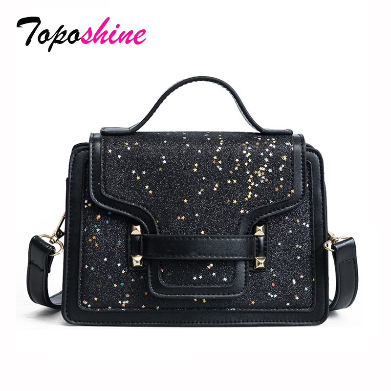 2018 New Korean Fashion Personality Sequins Hit Small Square Bag Wild Casual Temperament Portable Shoulder Messenger Bag