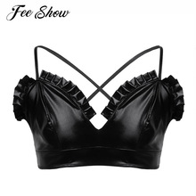 e2f898efe089c Mens Sissy Gay Lingerie Tank Bra Tops Bralette Smooth Shiny Wetlook Wire- free No Padded