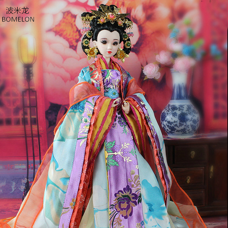 31CM Handmade Bjd Doll Tang Princess Gao Yang Ancient Beauty Doll Brinquedo 12 Jointed Articulated doll Girl Toy Birthday Gift tang dynasty shangguan wan er 12jointed doll 31cm high end handmade chinese costume dolls limited collection bjd 1 6 moveable
