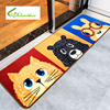 Soft Cartoon Carpets Pet Dogs Printed Absorbent Non Slip Indoor Porch Carpet House Doormats For Bedroom