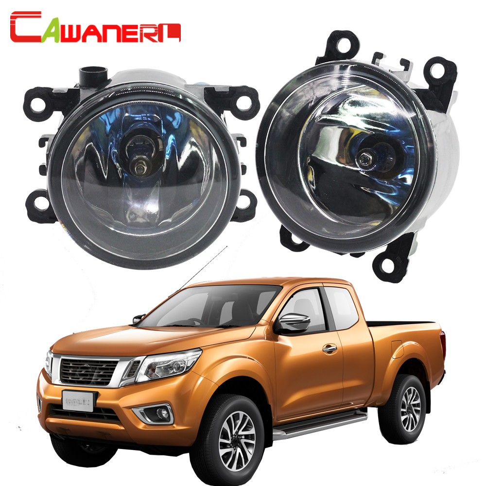 Cawanerl For Nissan Navara D40 Pickup 2005-2012 100W H11 Car Styling Halogen Fog Light Daytime Running Lamp DRL 12V 2 Pieces cawanerl for toyota highlander 2008 2012 car styling left right fog light led drl daytime running lamp white 12v 2 pieces