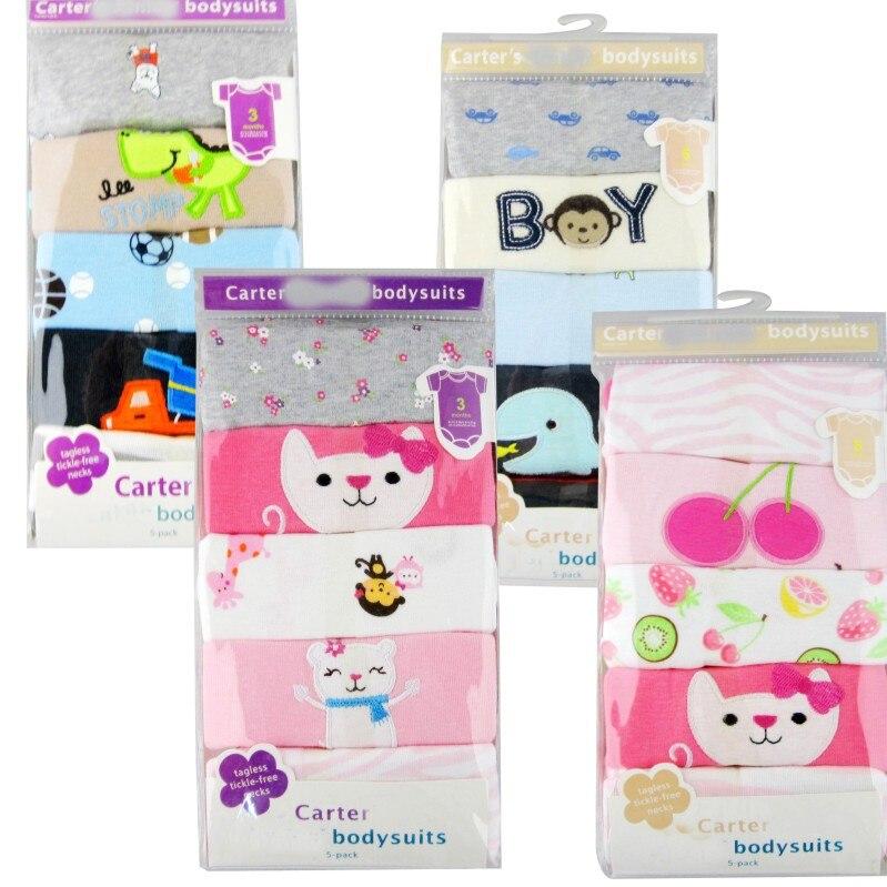 5 sztuk / partia Dziecko pajacyki z krótkim rękawem baby boy - Odzież dla niemowląt - Zdjęcie 2