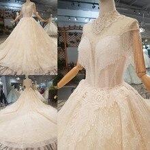 Novo Padrão Cristal Borla Rendas Vestidos de Baile Vestido de Noiva Beading Royal Train Lantejoulas Vestidos de Noiva 2018 Vestidos De Novia Boda