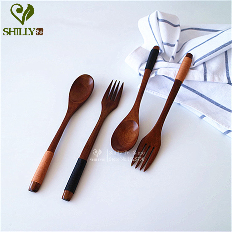 Classic Handmade Wooden Fork Eco Friendly Wooden Spoon High Grade Japanese  Natural Kitchen Supplies Tableware In Forks From Home U0026 Garden On  Aliexpress.com ...