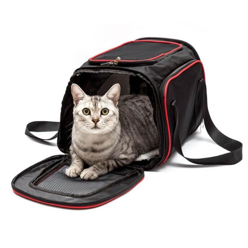 Расширяемый Портативный Pet Puppy Cat сумка складная Собака Автокресло мат клетке дышащая Кошка Pet Carrier автомобиль дорожная сумка для маленьких с...