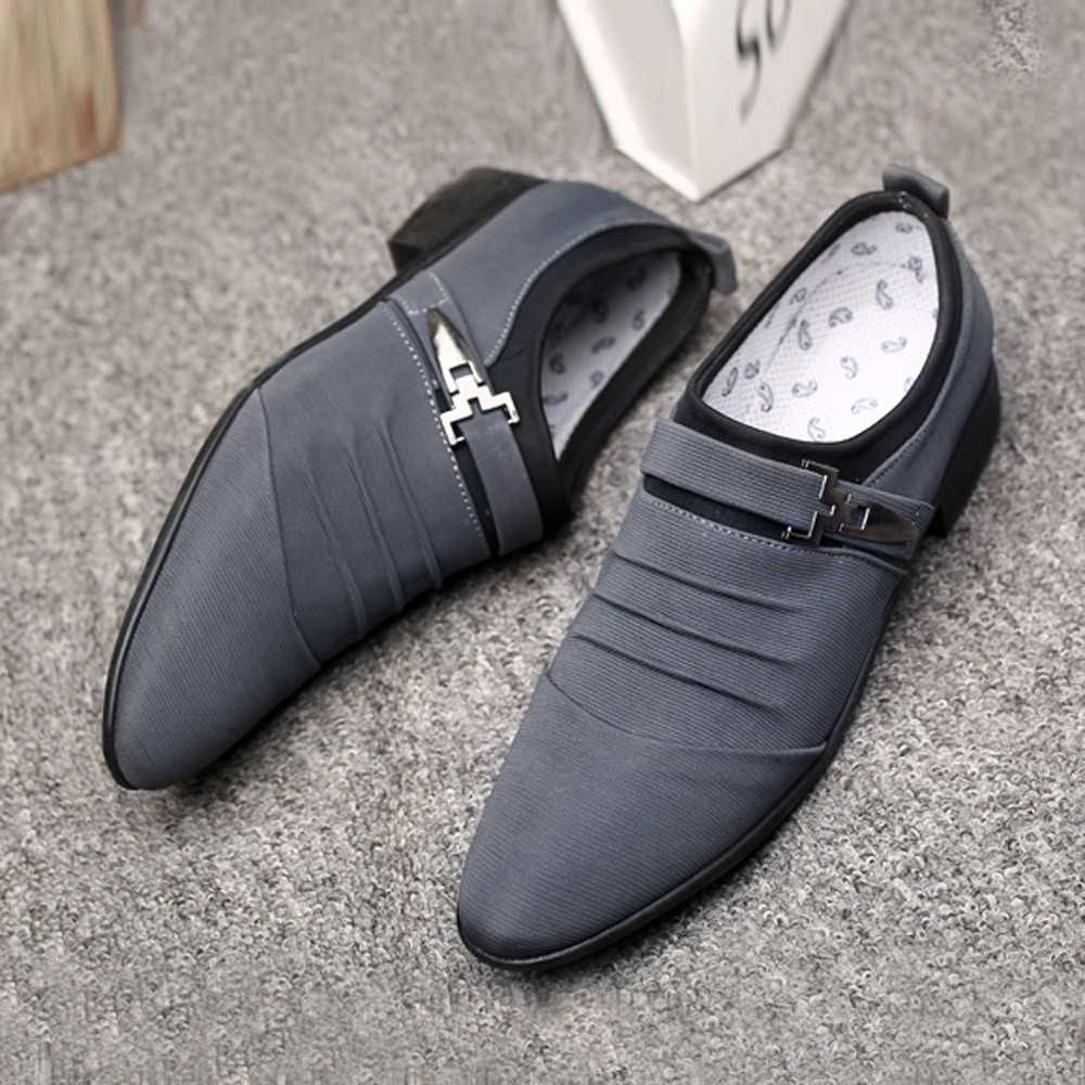 2019 Formal Shoes Men Casual Slip On Men Dress Shoes Canvas Business Men Oxford Formal Shoes For Men Casual