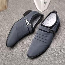 Г., официальная обувь мужские повседневные модельные туфли без шнуровки парусиновые деловые мужские оксфорды, официальная обувь для мужчин, повседневная обувь