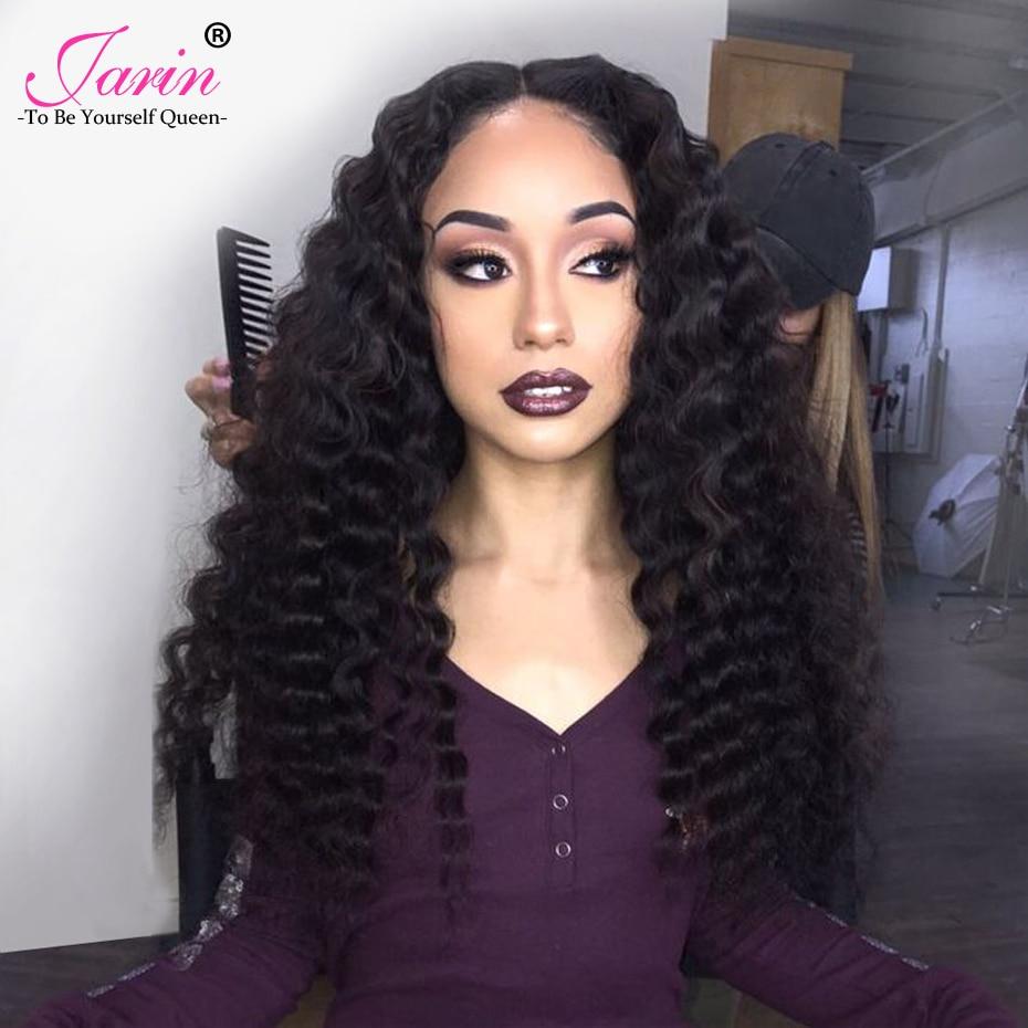 JARIN Hair Brazilian Deep Wave 100% Human Hair Bundles With Closure 3 Bundles With Closure 4PCS Non Remy Hair Weave Extension