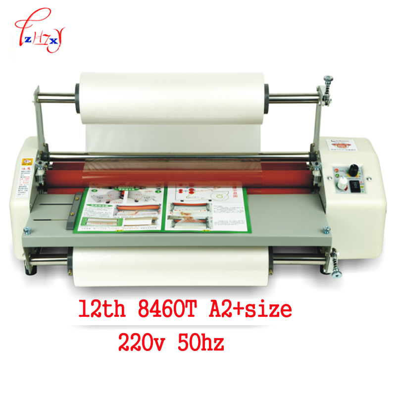 12th 8460T A2+paper laminator machine Mill Roller cold Hot laminator Rolling Machine film laminator laminating machine cewaal 2017 cla403l a4 photo laminator paper film document thermal hot