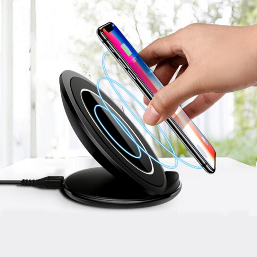 eAmpang 10W Qi Advanced Fast Wireless Charger for Samsung Galaxy S6 S7 edge S8 S9 Plus Note 5 Note 7 Note 8 for iPhone X 8 Plus