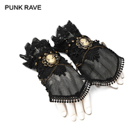 PUNK RAVE Steampunk Accessories Slightly Elastic Lace Gloves Fashion Novelty Classic Performance Victorian Women Gloves 1 Pair