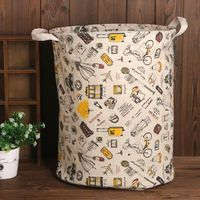 35*45cm NEW PRODUCTSCotton Linen Toy basket folding storage basket storage box organizer Container