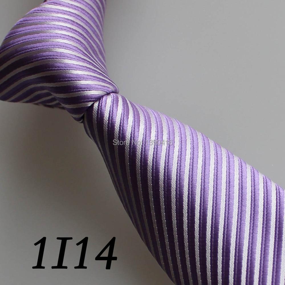 2018 Latest Style Border Lilac/White Tilted Striped Design Mens Designer Ties&Mens Ties Neckties&Vestido De Festa&New Neckties