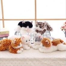 лучшая цена Creative Cute Simulation Pet Cats Short Plush Toys Stuffed Animal Plush Doll Toy Children Gifts & Adults Gift