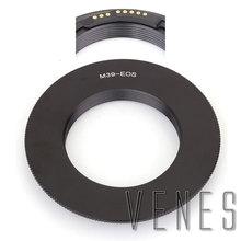 Venes ForM39-EOS GE-1 макро АФ Подтвердите адаптер с креплением на объектив адаптер Костюм для Leica M39 объектив камера Canon EOS 4000D/2000D/6D II