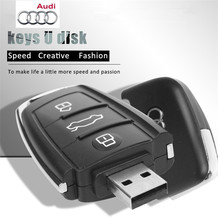 Audi car key USB flash drive, 8G.16G.32G.64G pen drive, USB creative gifts, exquisite memory stick, free shipping USB 2.0