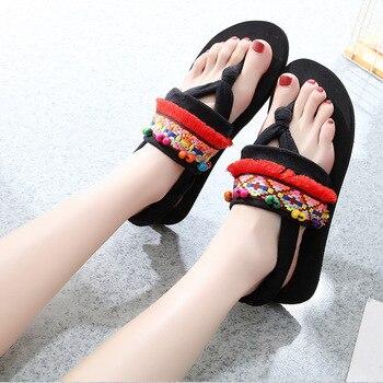 Women Summer Flip Flops Beach Sandals Slippers Gladiator Fashion Outdoor Slides Ethnic Flop