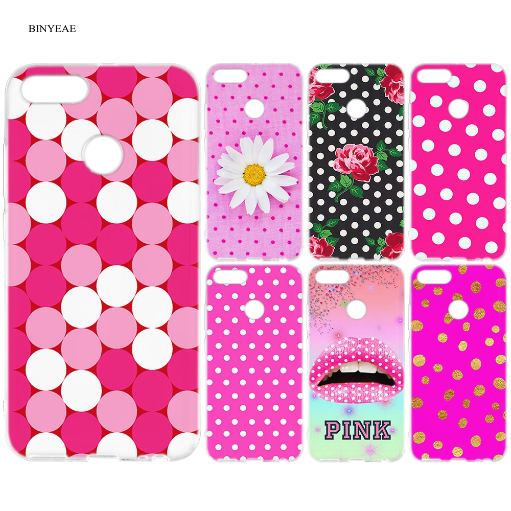 BINYEAE Pink Dots Silicone Case Cover For Xiaomi A1 A2 8 SE Redmi Note 4X 5  6 5A 6A S2 Pro