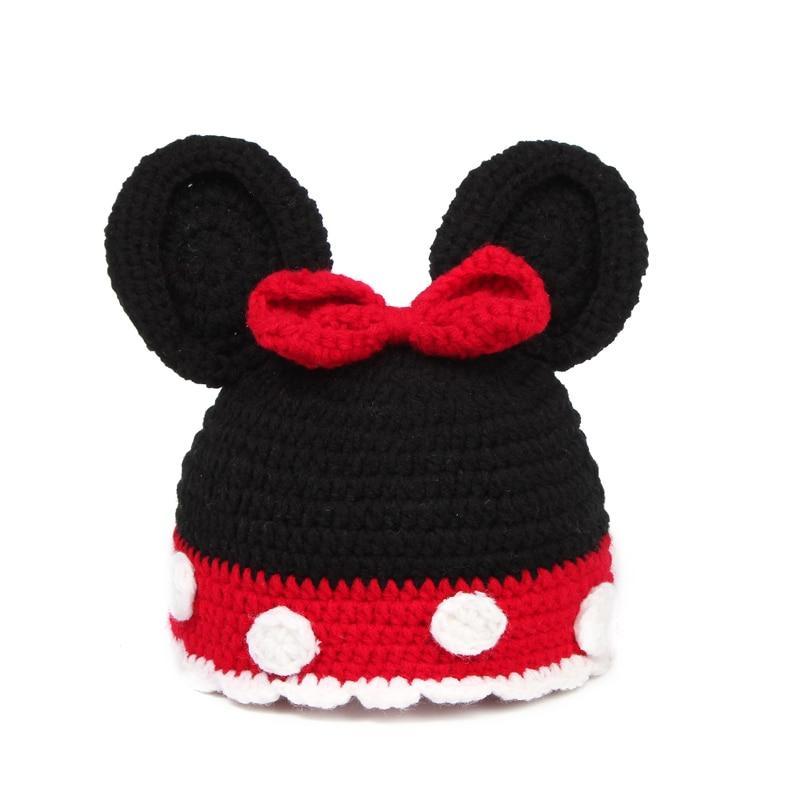 New baby minnie mouse sombrero del sombrero del ganchillo hechos a ...