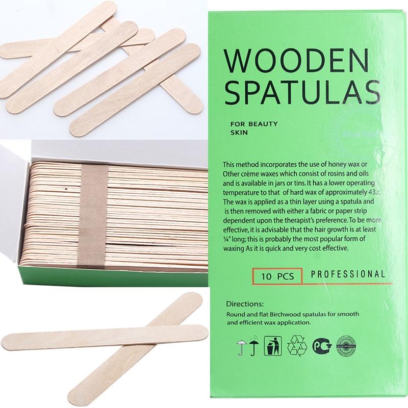 Disposable Wooden Waxing Spatulas Smal/thin 10pcs Hair Removal Stick Applicators Professional Facial Spa Manicure Tools