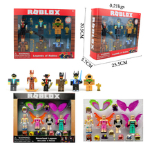 6pcs/set 2018 Cartoon Roblox Game Figma Oyuncak Action Figure Toys with Weapons Toys Doll Kid Birthday Gift Collection Ornaments