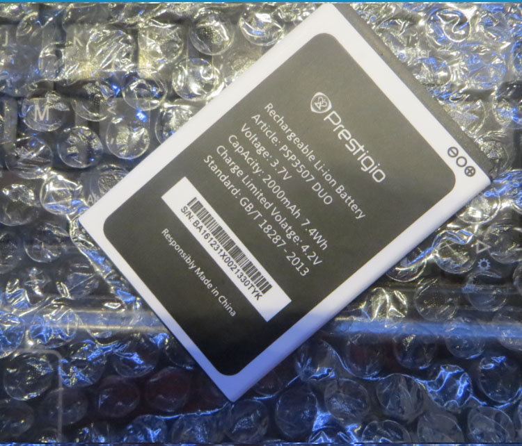 For Prestigio Wize N3 3507 PSP3507 DUO 2000MAH Mobile Phone Li-ion Battery Replacement
