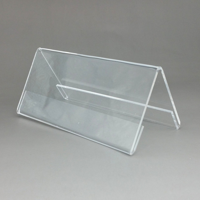 120x55mm Plastic Clear Acrylic T2mm Sign Display Promotion