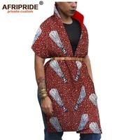 2019 dashiki african dresses for women with blelt kimono african ankara sexy dress african bazin fabric AFRIPRIDE A1925020