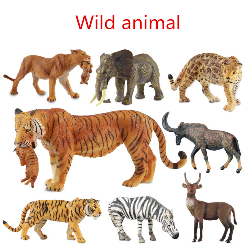 Hot 14 type Entity Zoo Wild Animal Figure Tiger Leopard Hippo Lion Kids Toy Lovely Animal Toys Set Kids GIFT Decor Toy mr froger chinese alligator model toy wild animals toys set zoo modeling plastic solid crocodile classic toys cute animal models