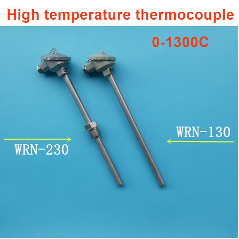 300mm Probe K Type 0-1300C Temperature Explosion Proof k type thermocouple temperature sensor probe k type thermocouple probe temperature sensor silver 2 meters
