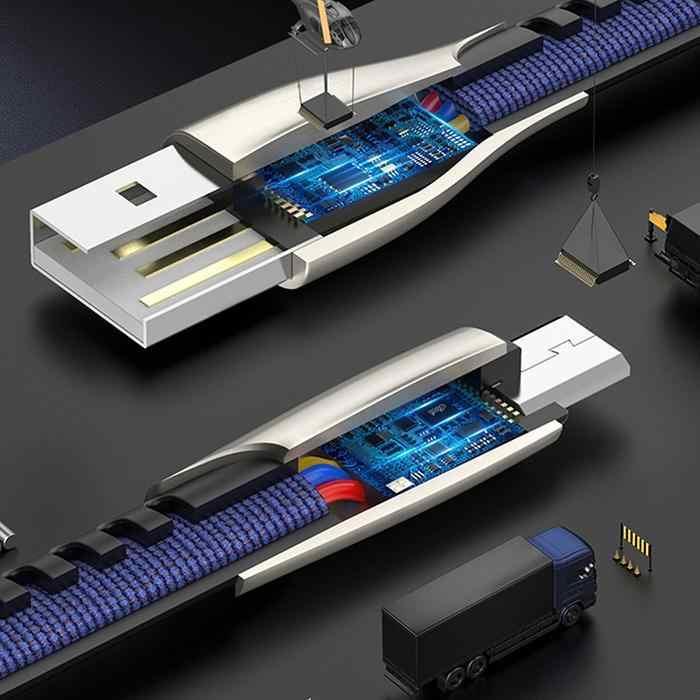 3A USB نوع C الروبوت كابل سريع بيانات الشحن الحبل الهاتف شاحن لهواوي P20 لايت الشرف 10 9 الموالية 3.1 سامسونج S9 Redmi ملاحظة 7