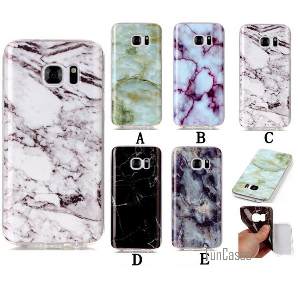 S7 Edge Case Dirt Resistant Soft Slim Marble Stone Pattern TPU Back Protective Phone Bags Cases For Samsung Galaxy G9350 Coque
