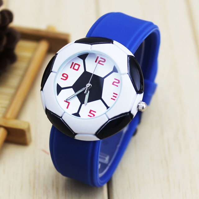 2018 new Dropshipping cool 3D Football Cartoon children Rubber kids watches boys