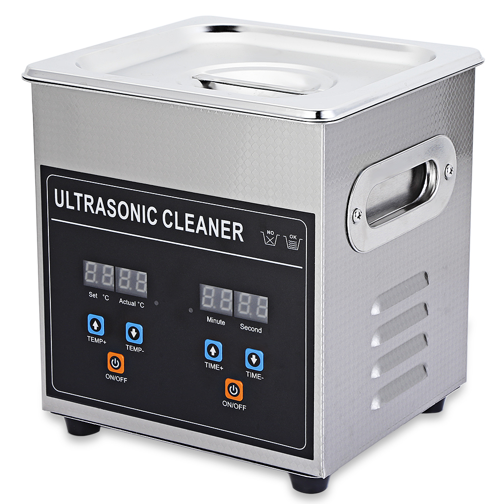 2L 60W Digital Ultrasonic Nail Bath Heat Timer Cleaning Ultrasound Tanks Metal Mold Degreaser Washer Lab Equipment Transducer цена и фото