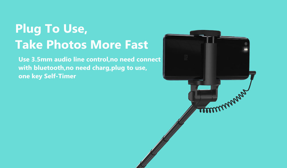 Newest Xiaomi Monopod Mi Selfie Stick Bluetooth Tripod With Wireless Remote 360 Rotation FlexiableWired Version Android 4.3 IOS (16)
