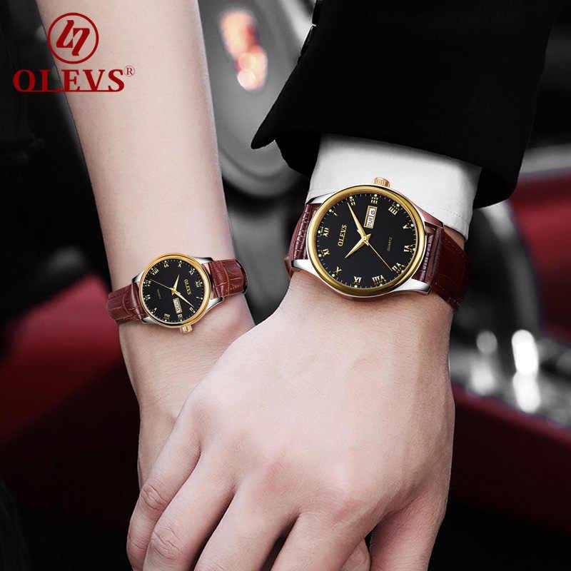 OLEVS Frau Uhren Edelstahl Paar Uhren Damen Herren Top Marke Luxus Uhr Casual Armbanduhr Relogio bajan kol saati