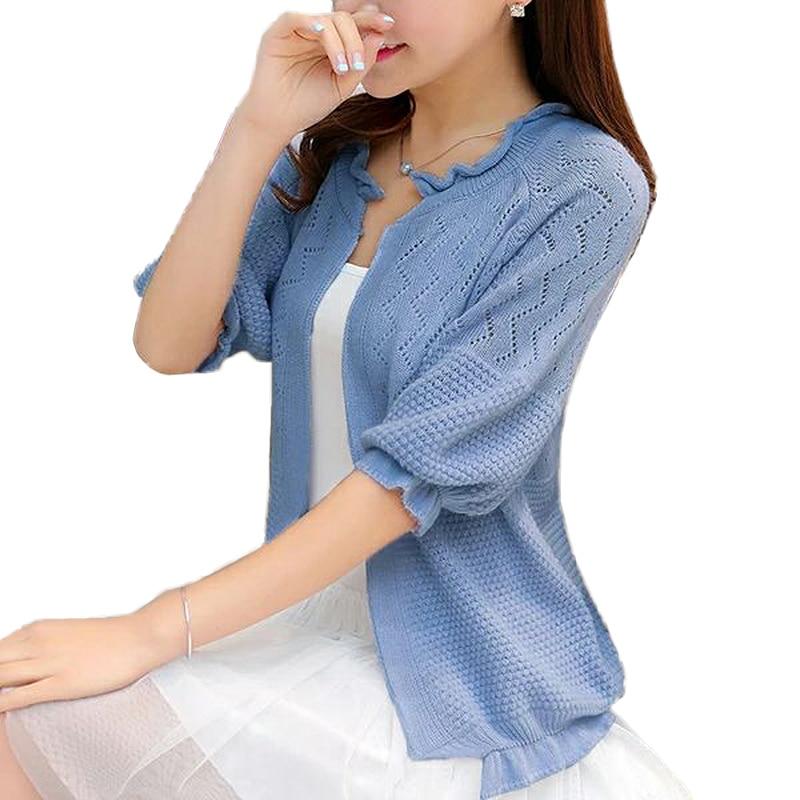 verano Otoño de la mujer Suéter cardigan suelta más el tamaño de costura de pun