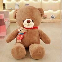80cm New bear scarf big bear Stuffed Animals Toys Christmas Plush Doll ,retails,Christmas gift