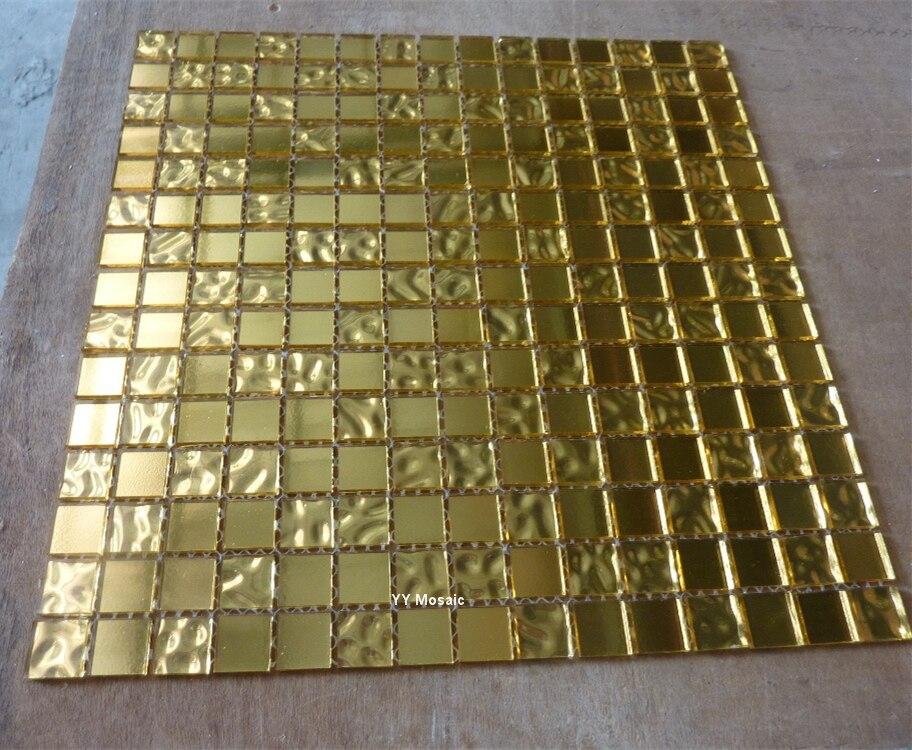 Gouden Mozaiek Tegels : Zuur alkali bestendig imiteren gouden folie glas mozaïek tegel