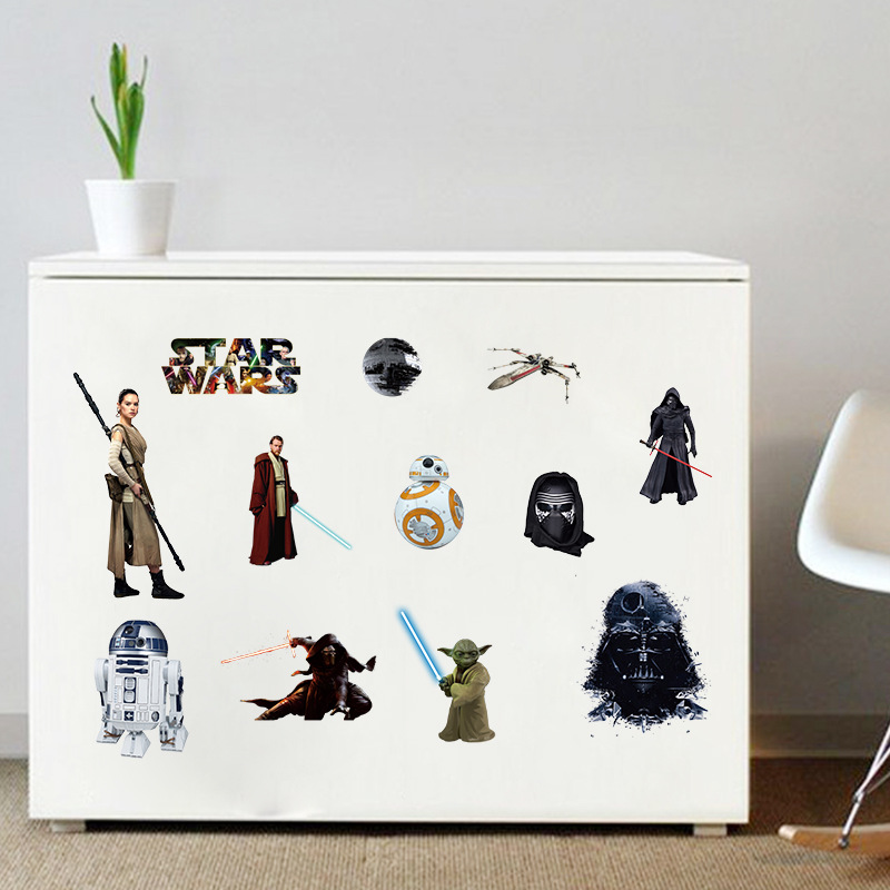 இcreative Home Decor 3d Wall Stickers Movie Star Wars For Baby Room