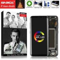 Super AMOLED S8 ЖК дисплей с рамкой для Samsung Galaxy S8 g950 G950F Дисплей S8 ЖК дисплей Экран S8 плюс G955 G955F Сенсорный экран планшета
