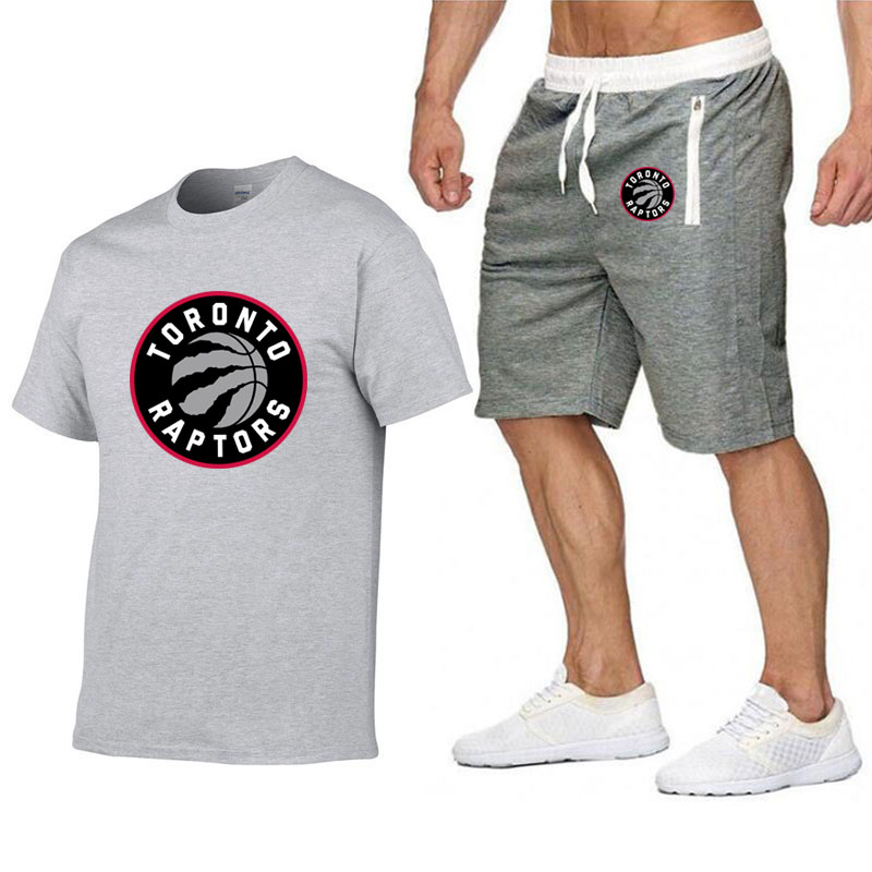 Fashion Raptors Jersey Men   T     Shirt   Shorts Summer Casual Tracksuit Men's Sportswear Suit 2019 Men's Brand Clothing tshirt Shorts