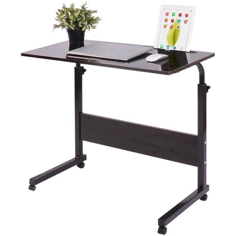 Table d'ordinateur Portable amovible lit bureau ordinateur Portable Table de chevet canapé-lit réglable ordinateur Portable bureau avec roues 40*60 CM