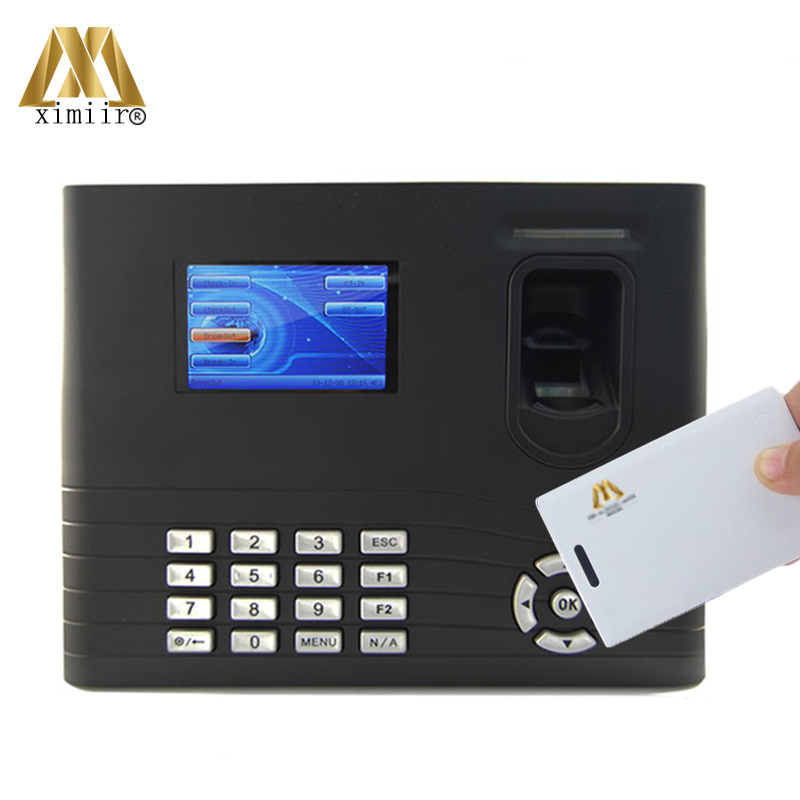 TCP/IP IN01 Fingerprint Time Attendance Linux System IC Card Time Recording With 2000 MAh Backup Battery