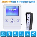 "4"" TFT Door Monitor Video Intercom Door Phone Recorder System with 800 TVL IR Camera Support Security CCTV Camera F1373B"