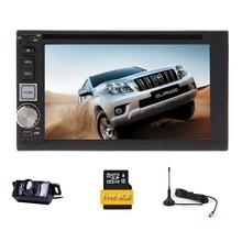 CD Receiver Radio Sub AMP Audio Bluetooth SD Stereo GPS Video Digital TV Autoradio iPod 2 din Car DVD Player 6.2″